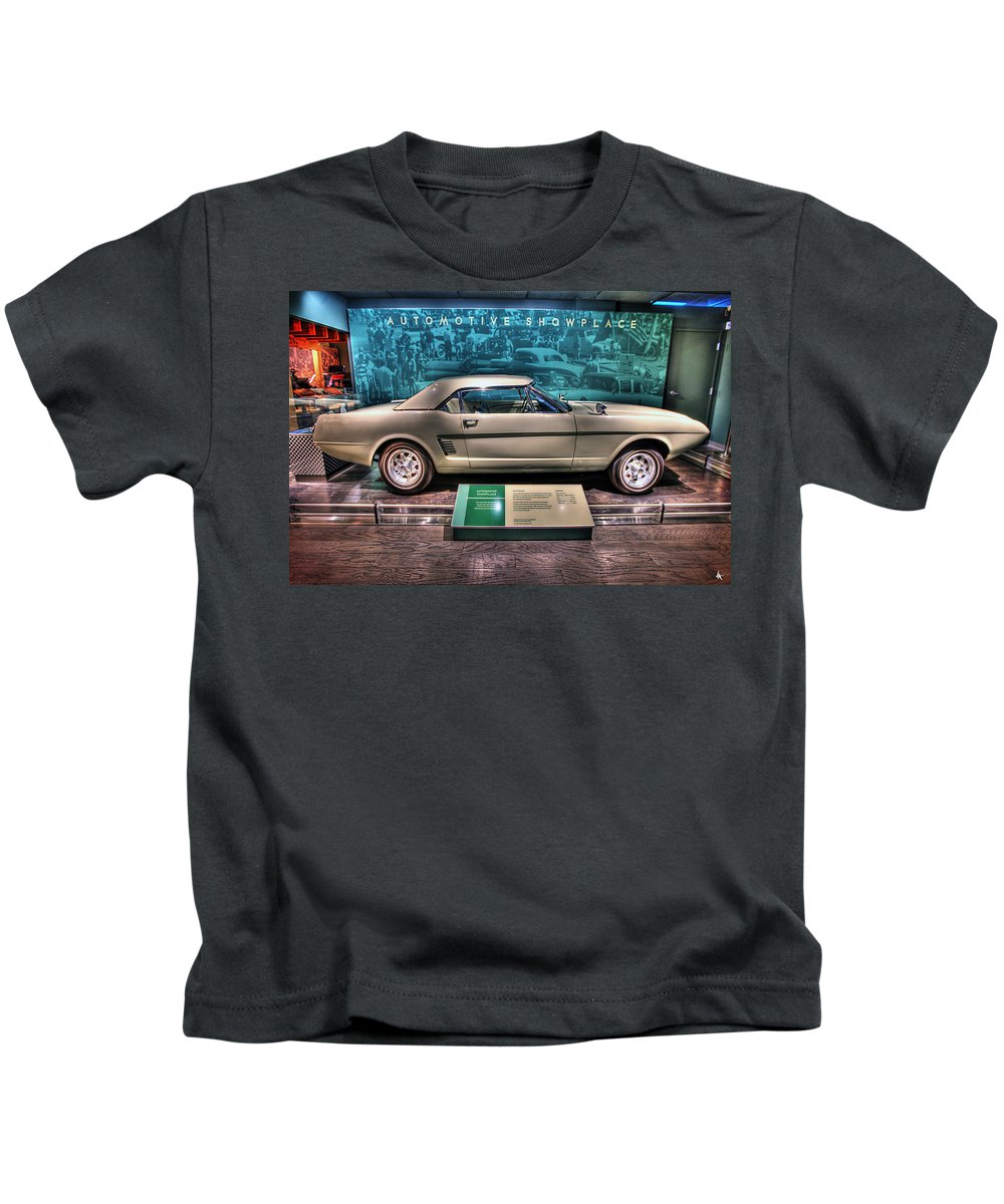 The First Kids T-Shirt featuring the photograph The First Mustang by Nicholas Grunas