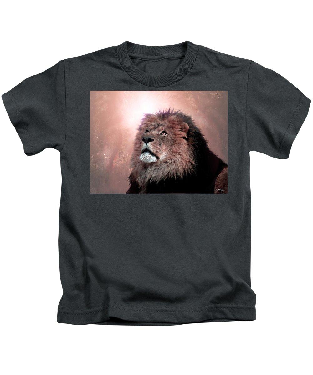 Lion Kids T-Shirt featuring the digital art The Garden by Bill Stephens