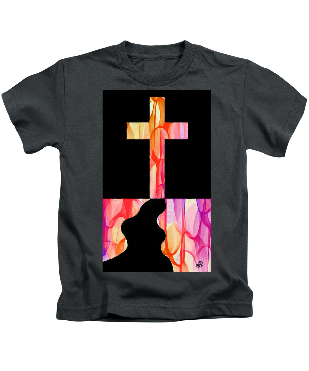 Fauvism Kids T-Shirt featuring the painting The Glory Of The Cross by Bruce Nutting