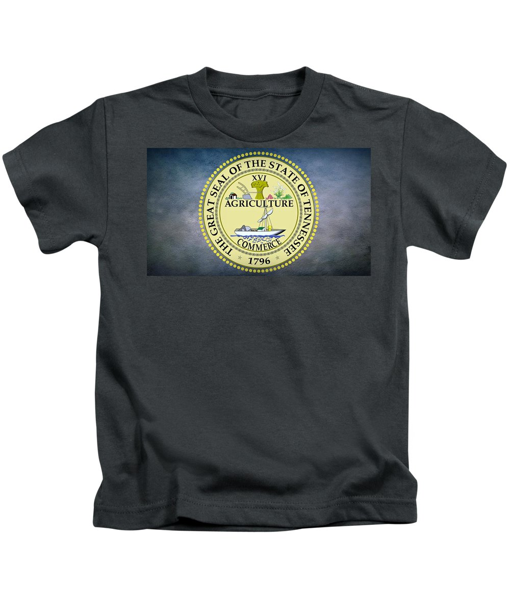 Tennessee Kids T-Shirt featuring the photograph The Great Seal Of The State Of Tennessee by Movie Poster Prints