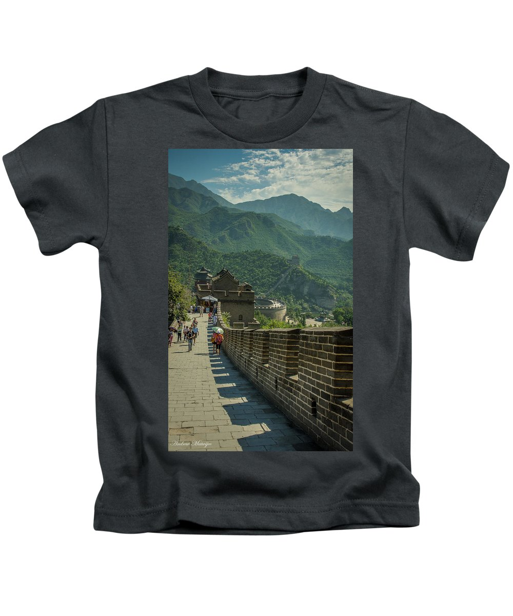 Great Kids T-Shirt featuring the photograph The Great Wall by Andrew Matwijec