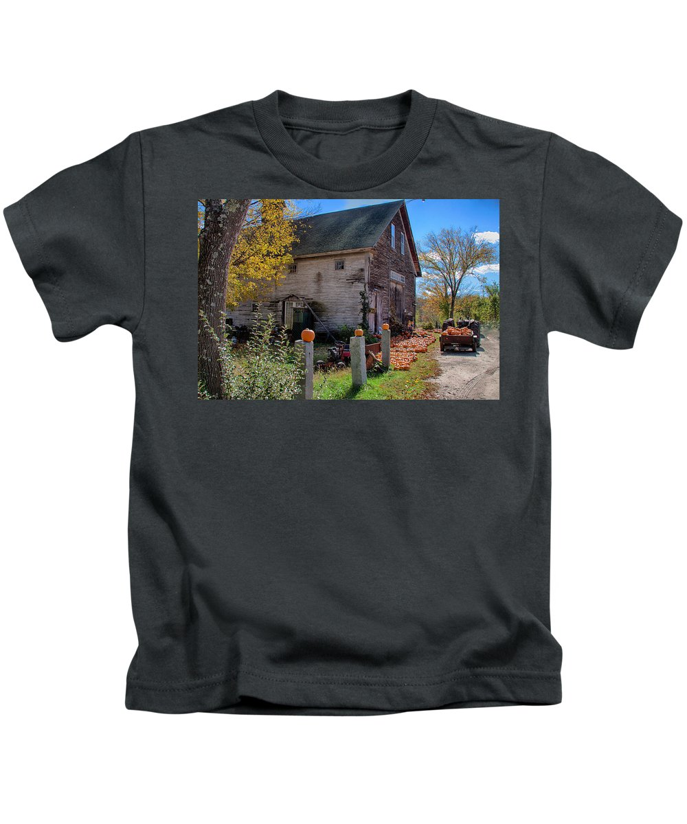 Autumn Foliage Kids T-Shirt featuring the photograph The Harvest Is In by Jeff Folger
