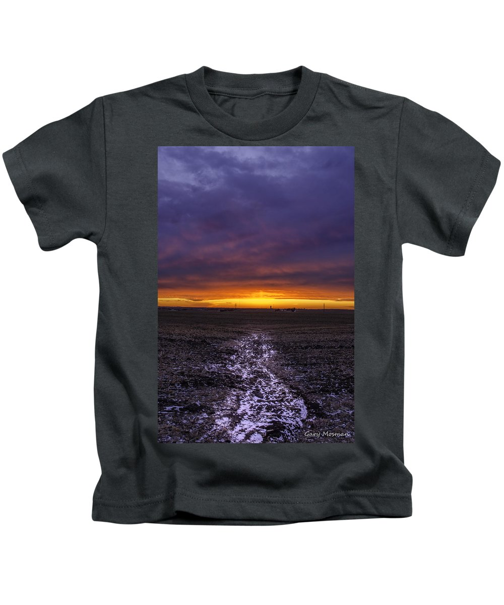 Snow Kids T-Shirt featuring the photograph The Last Snow by Gary Mosman