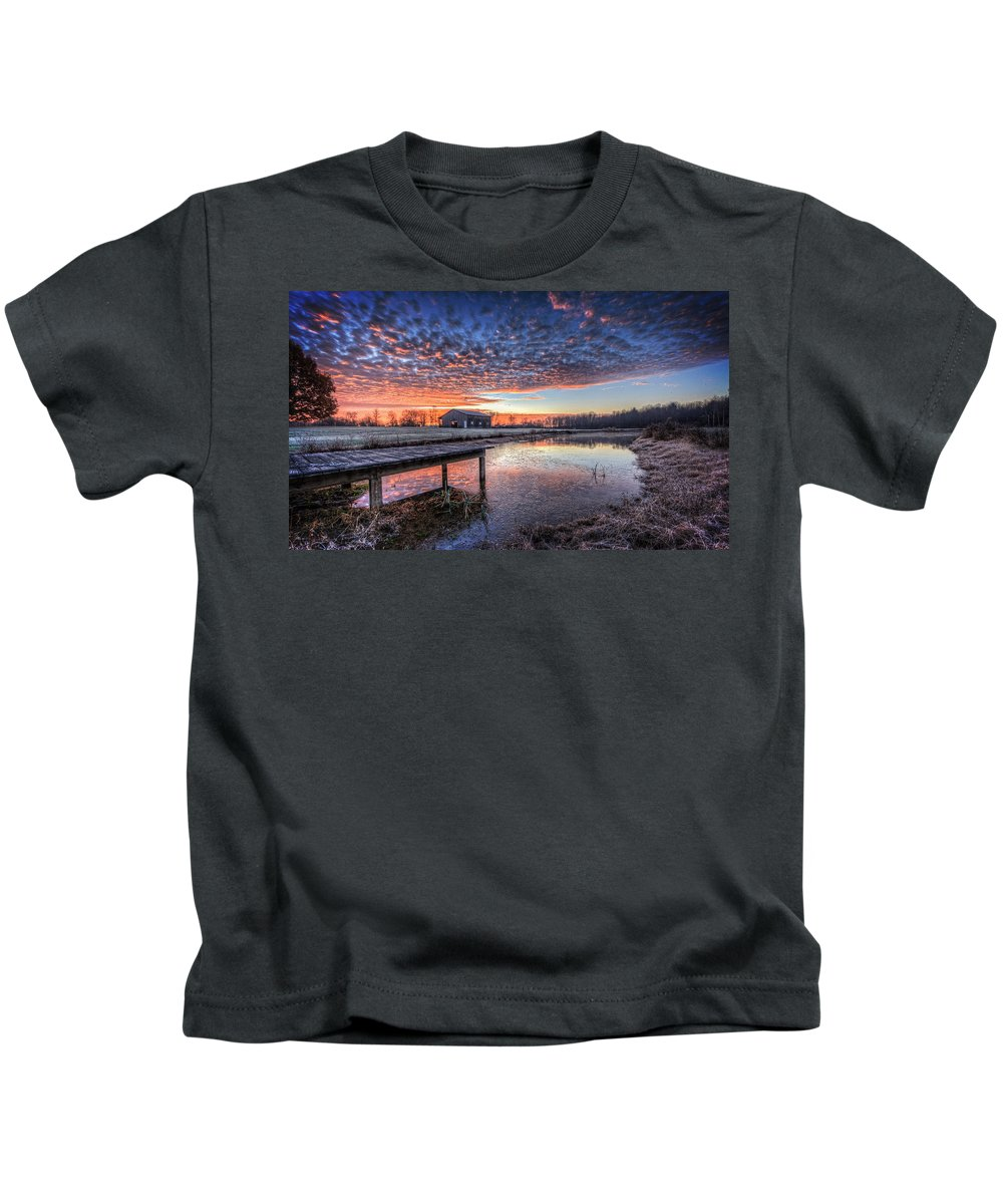 Morning Kids T-Shirt featuring the photograph The Morning Sky by Everet Regal