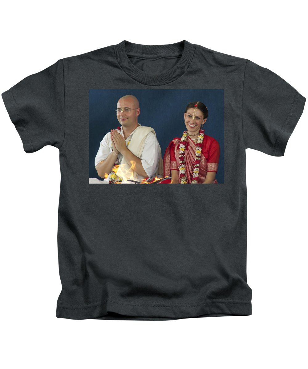 Bride Kids T-Shirt featuring the photograph The Newly Married Couple by Daniel Csoka