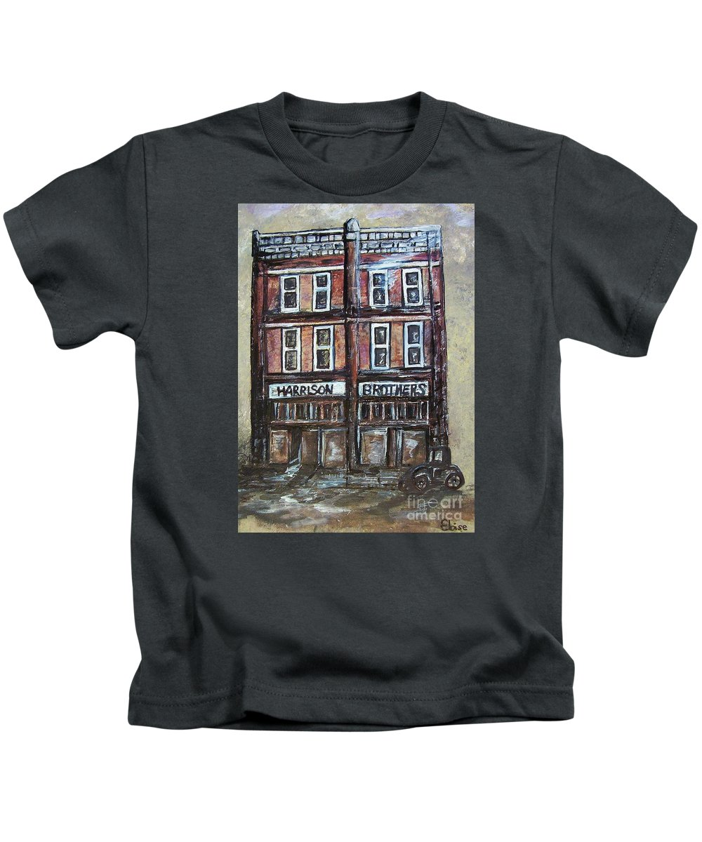 Historic Kids T-Shirt featuring the painting The Old Store by Eloise Schneider Mote