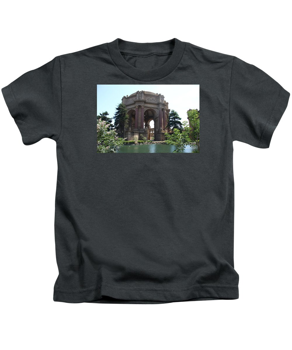 Palace Of Fine Arts Kids T-Shirt featuring the photograph The Palace Of Fine Arts by Christiane Schulze Art And Photography