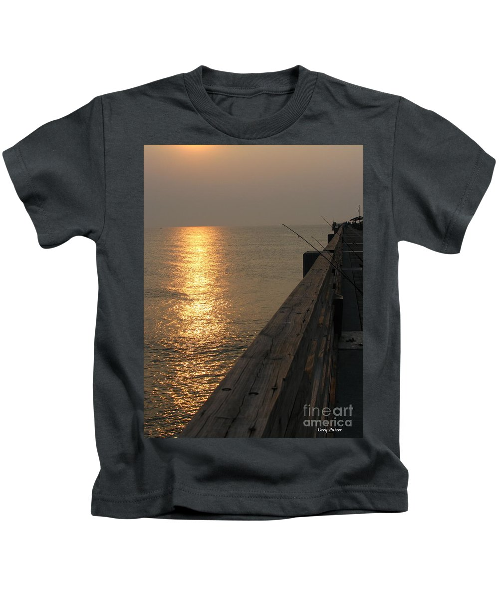 Art For The Wall...patzer Photography Kids T-Shirt featuring the photograph The Pole by Greg Patzer