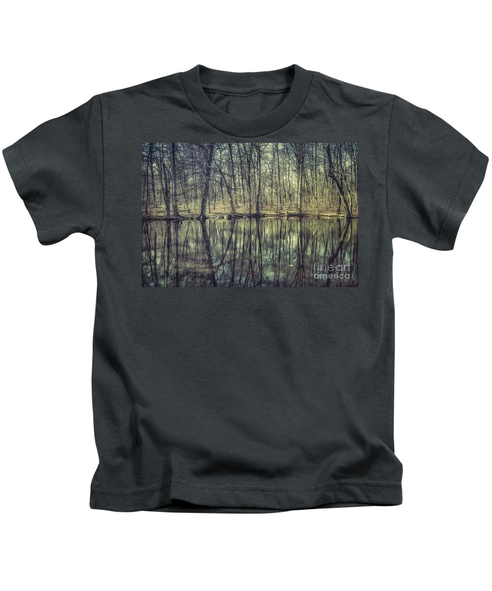 Kremsdorf Kids T-Shirt featuring the photograph The Sentient Forest by Evelina Kremsdorf