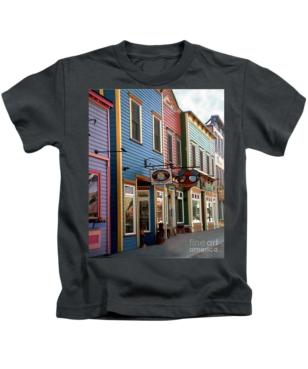Landscape Kids T-Shirt featuring the photograph The Shops In Crested Butte by RC DeWinter