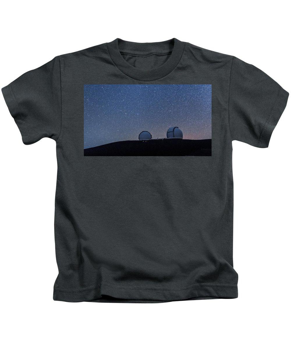 Big Island Kids T-Shirt featuring the photograph The Stars Above Keck by Jason Chu