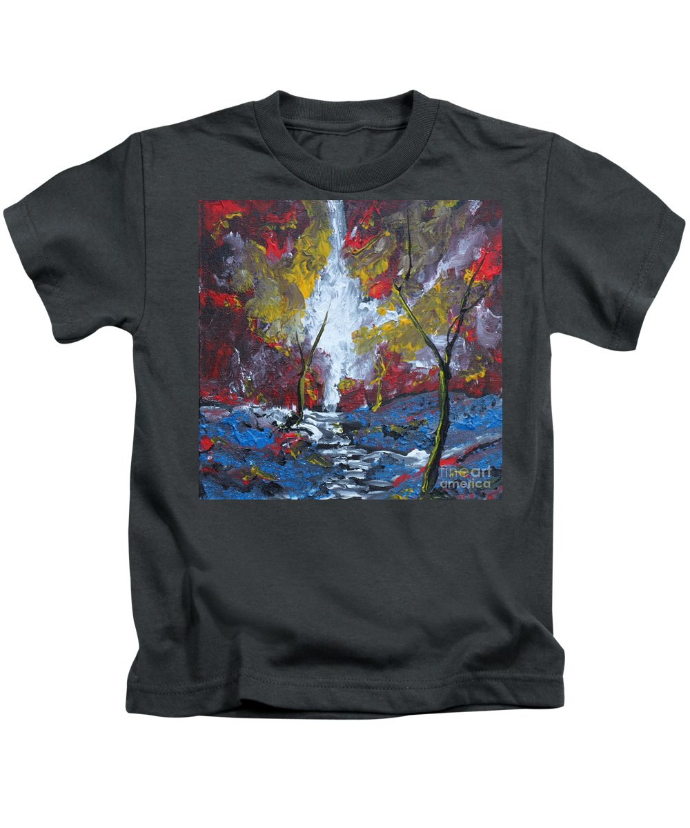 Landscape Kids T-Shirt featuring the painting The Stream Of Light by Stefan Duncan