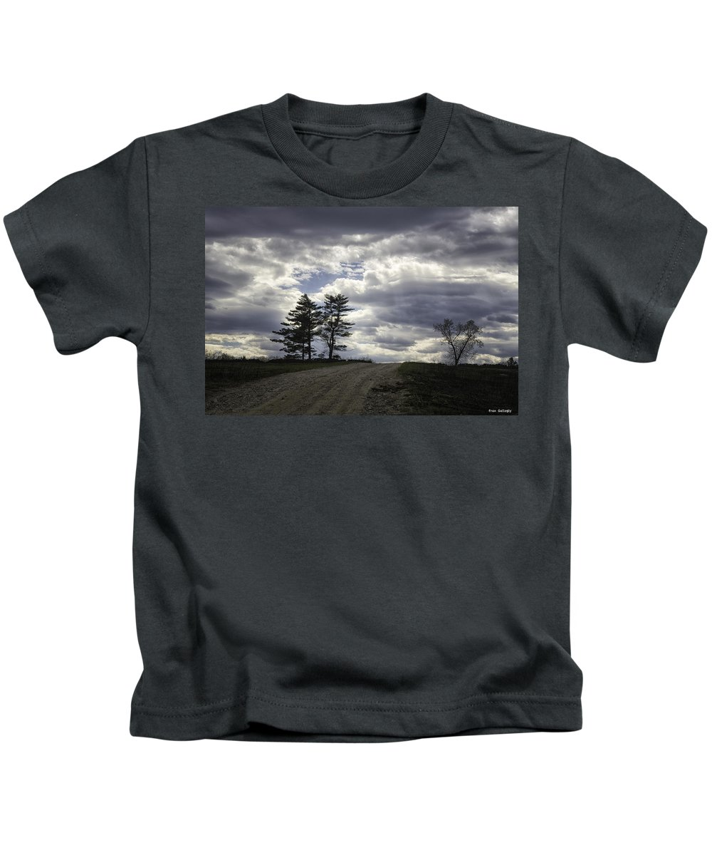 Tree Kids T-Shirt featuring the photograph The Summit by Fran Gallogly