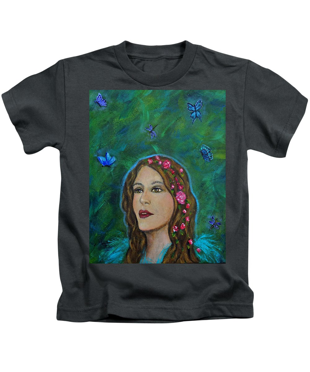 Transformation Kids T-Shirt featuring the painting The Transformation Of Charlotte by The Art With A Heart By Charlotte Phillips