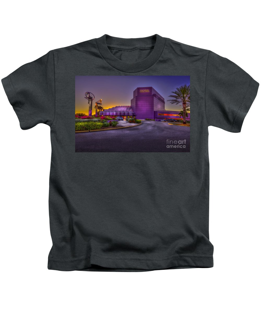 Performing Arts Hall Kids T-Shirt featuring the photograph The Van Wezel 2 by Marvin Spates