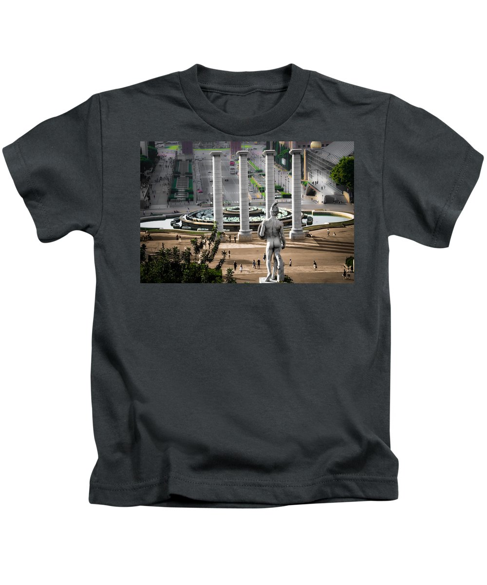 Spain Kids T-Shirt featuring the photograph The View by Sotiris Filippou