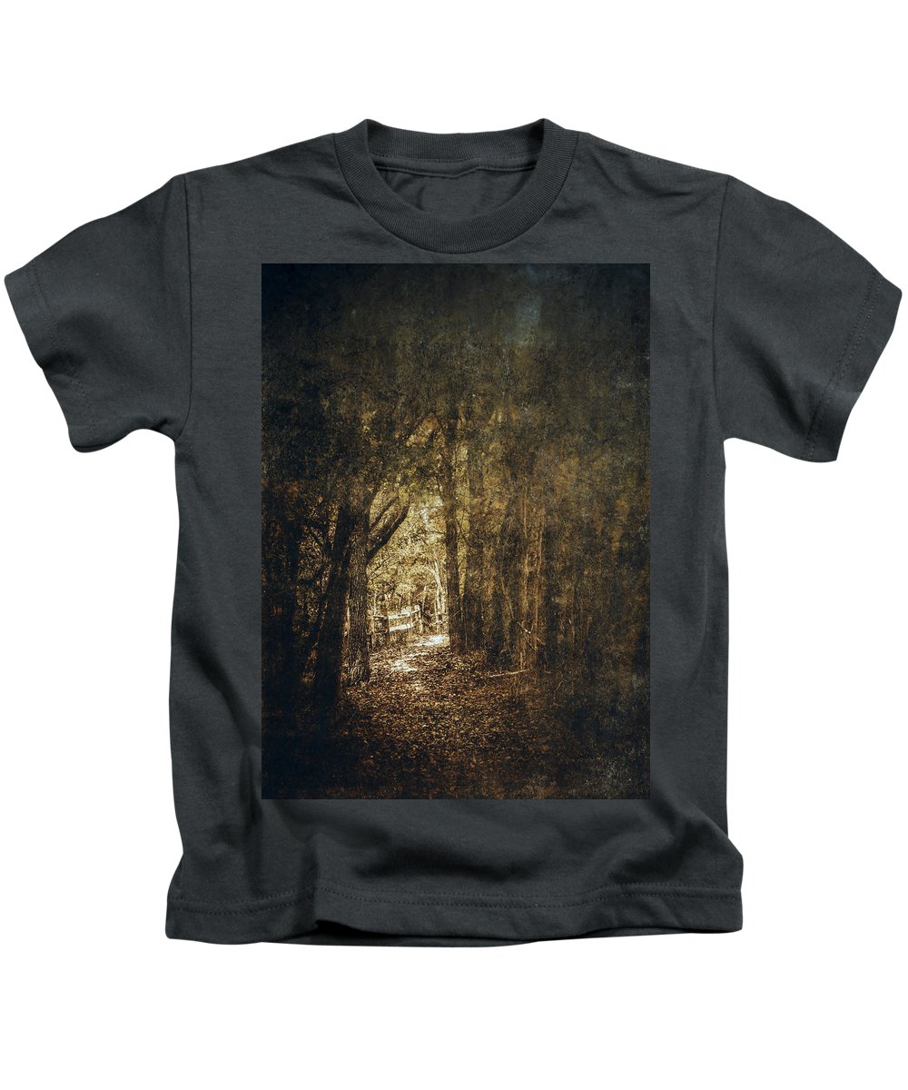 Leaf Kids T-Shirt featuring the photograph The Way Out by Scott Norris