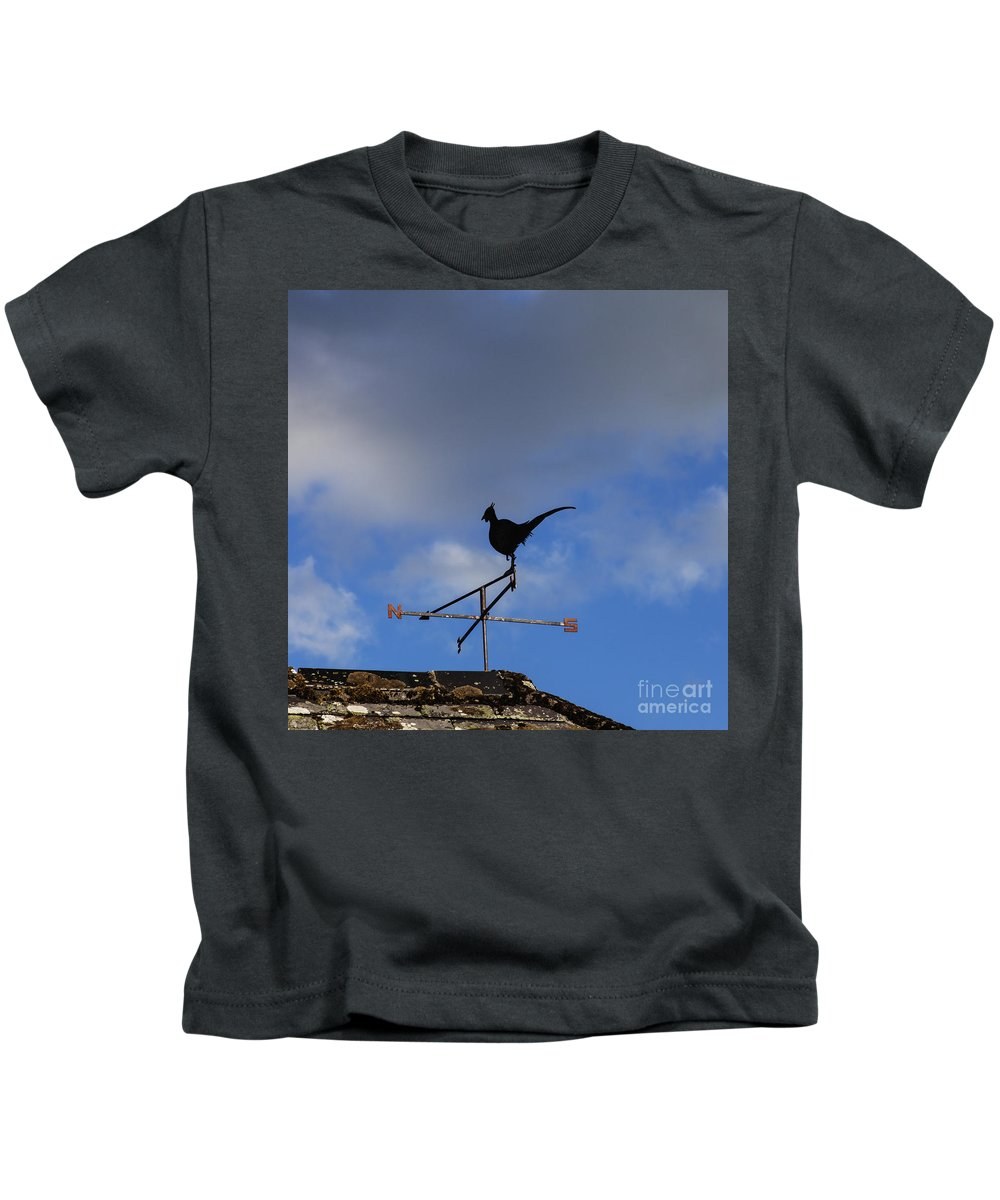 Communication Kids T-Shirt featuring the photograph The Way The Wind Blows by Diane Macdonald