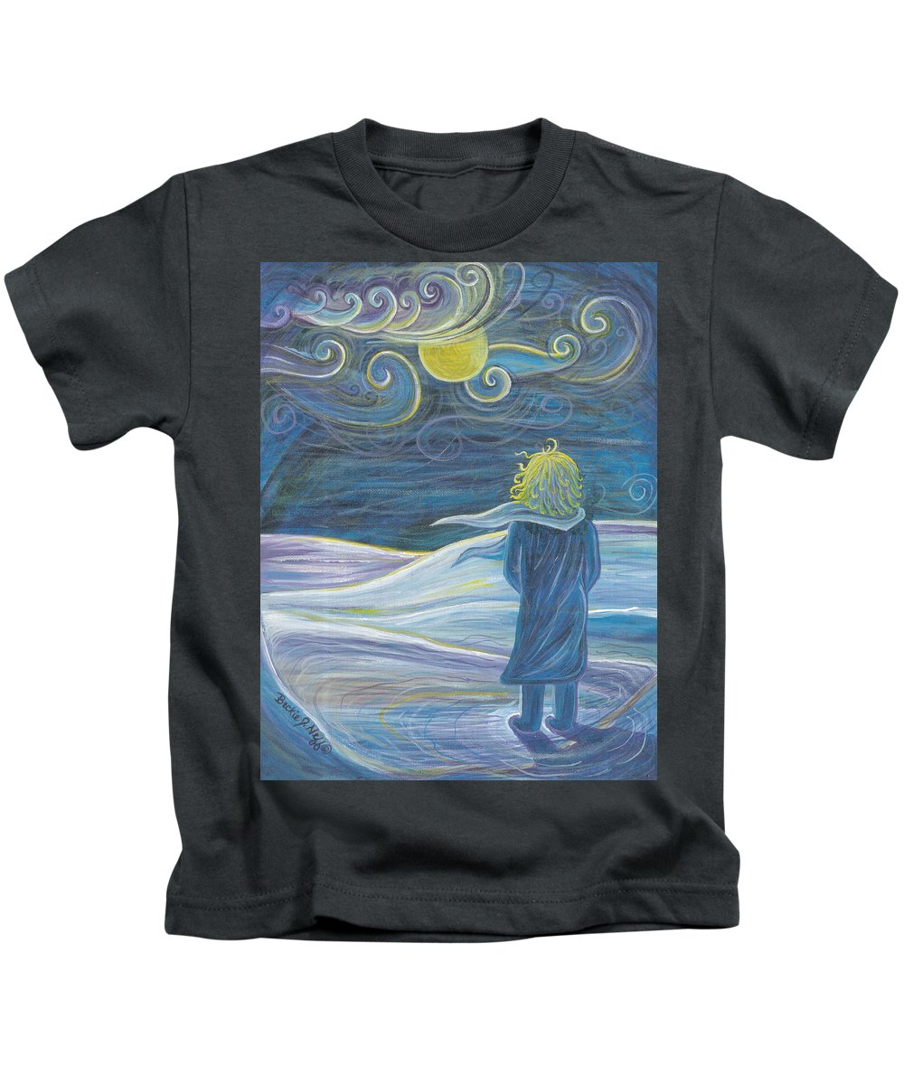 The Wind Kids T-Shirt featuring the painting The Wind by Beckie J Neff