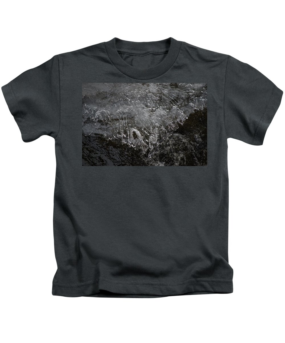 Ice Kids T-Shirt featuring the photograph Ice Over The River by Neil Taitel