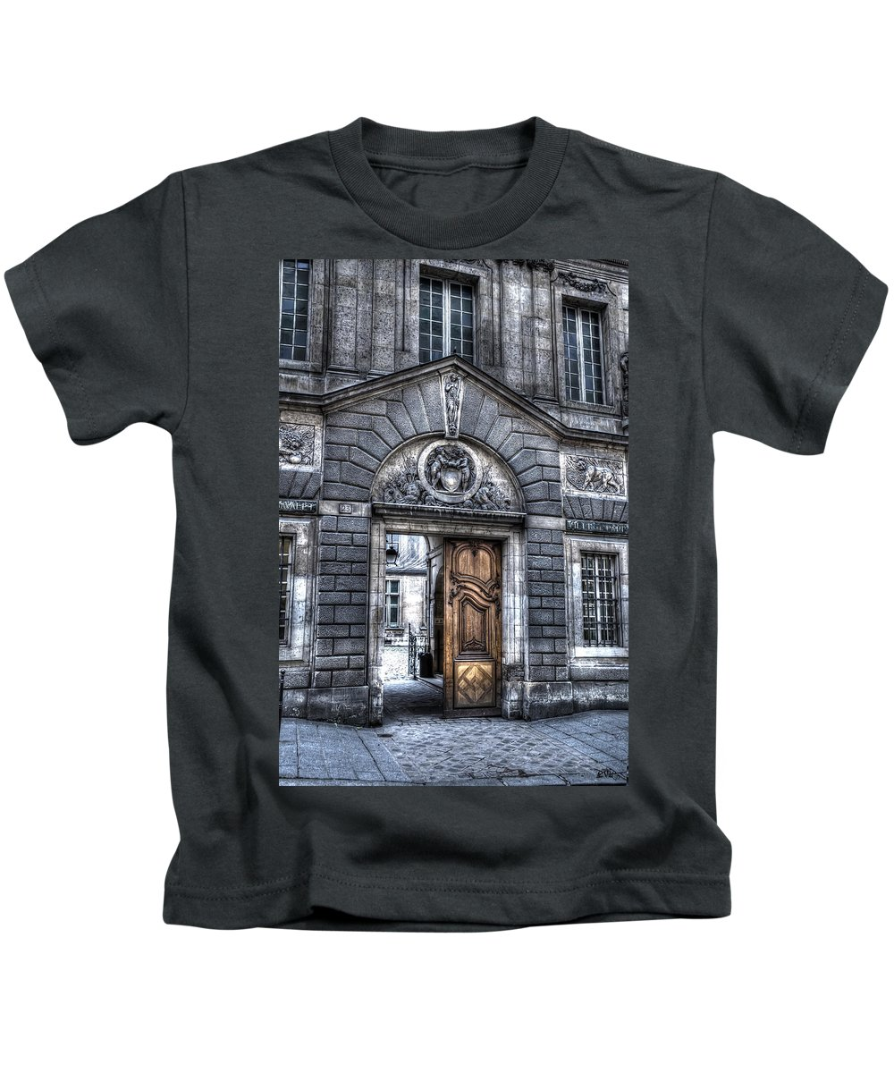 Arch Kids T-Shirt featuring the photograph The Wooden Door by Evie Carrier
