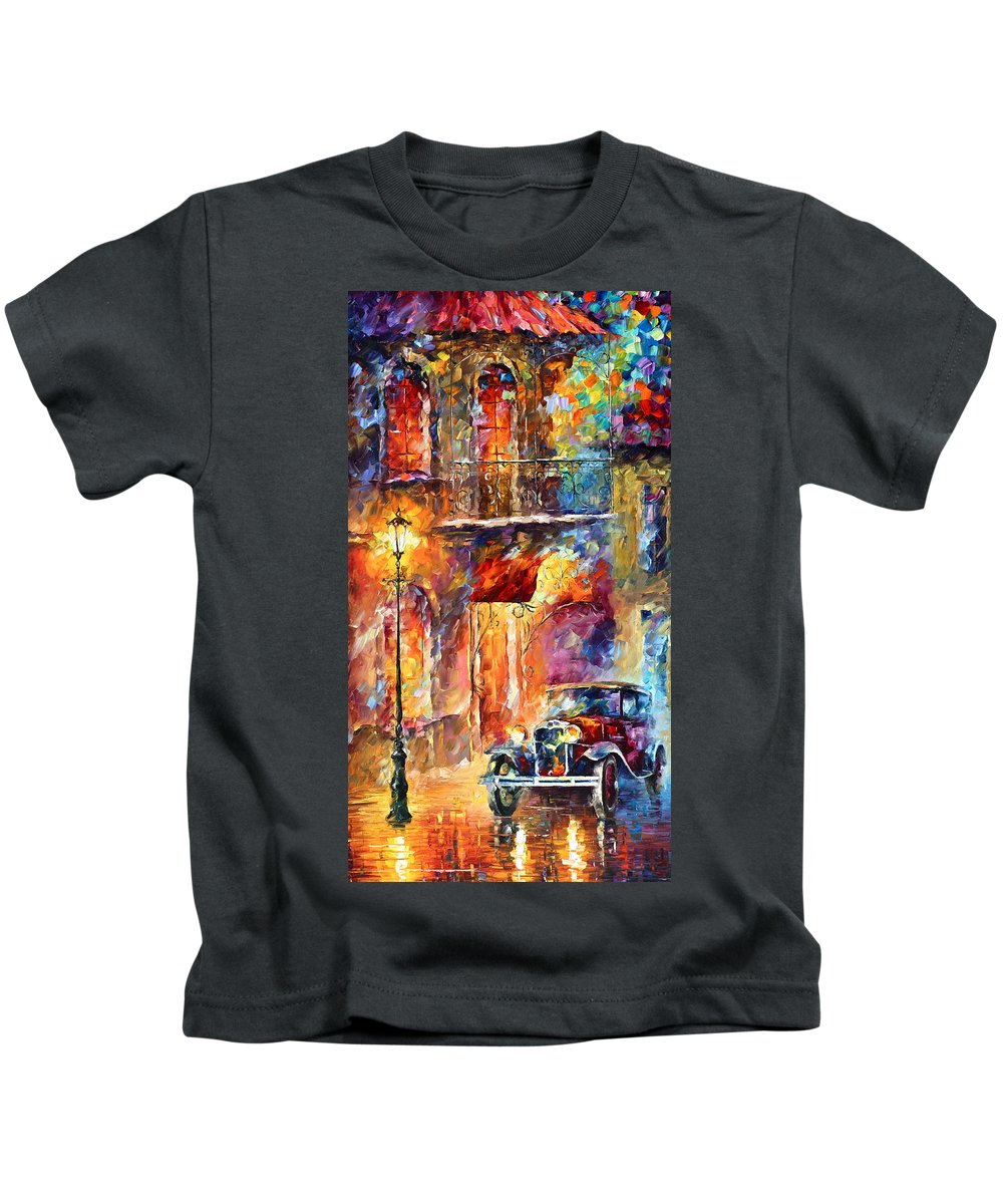 Afremov Kids T-Shirt featuring the painting Thoughts Of My Ancestors by Leonid Afremov
