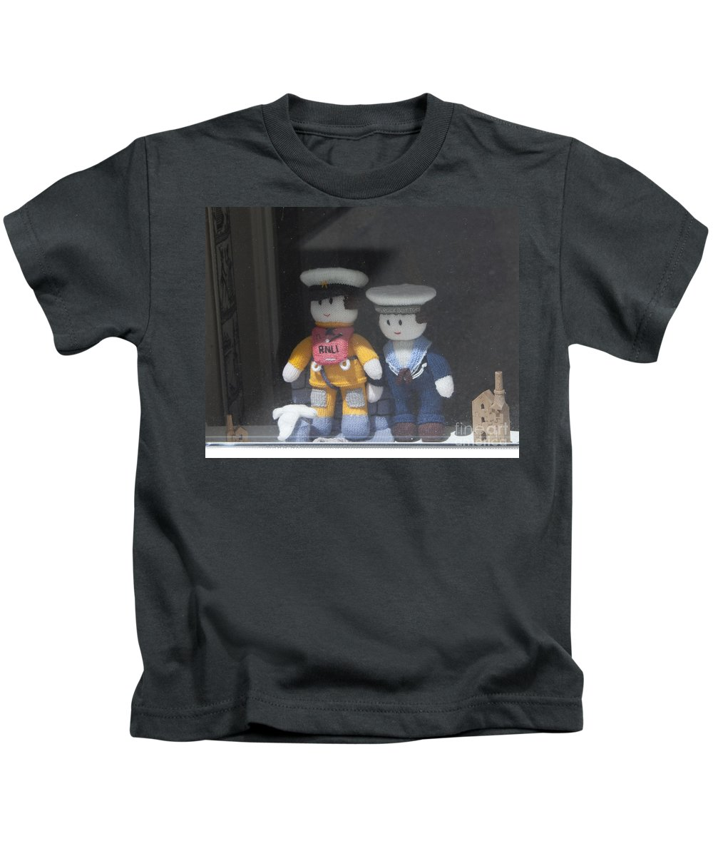 Cornwall Kids T-Shirt featuring the photograph Through A Cornish Window by Terri Waters