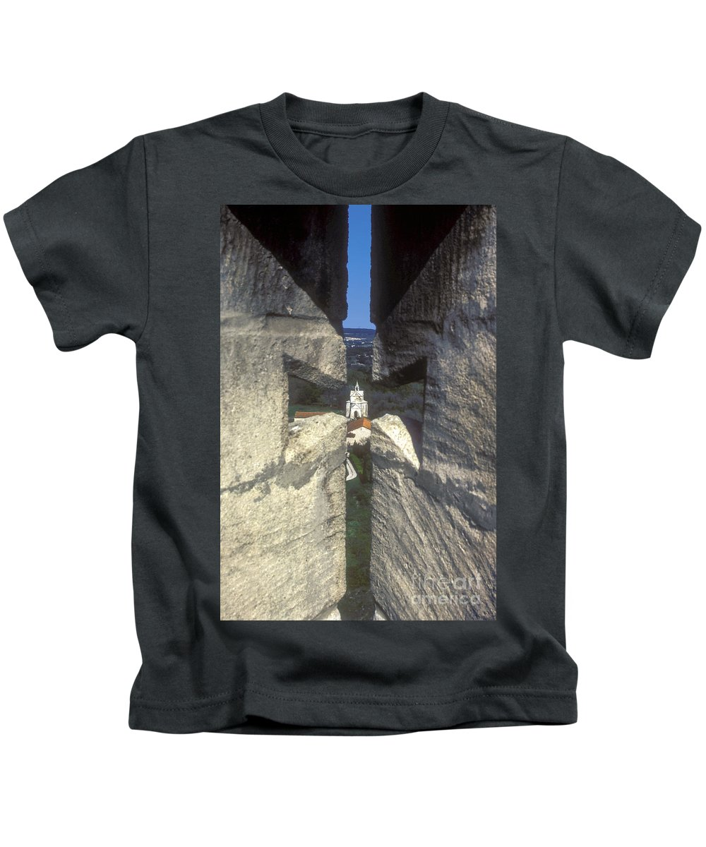 Montmajor France Cross Crosses Monastery Monasteries Kids T-Shirt featuring the photograph Through The Cross by Bob Phillips