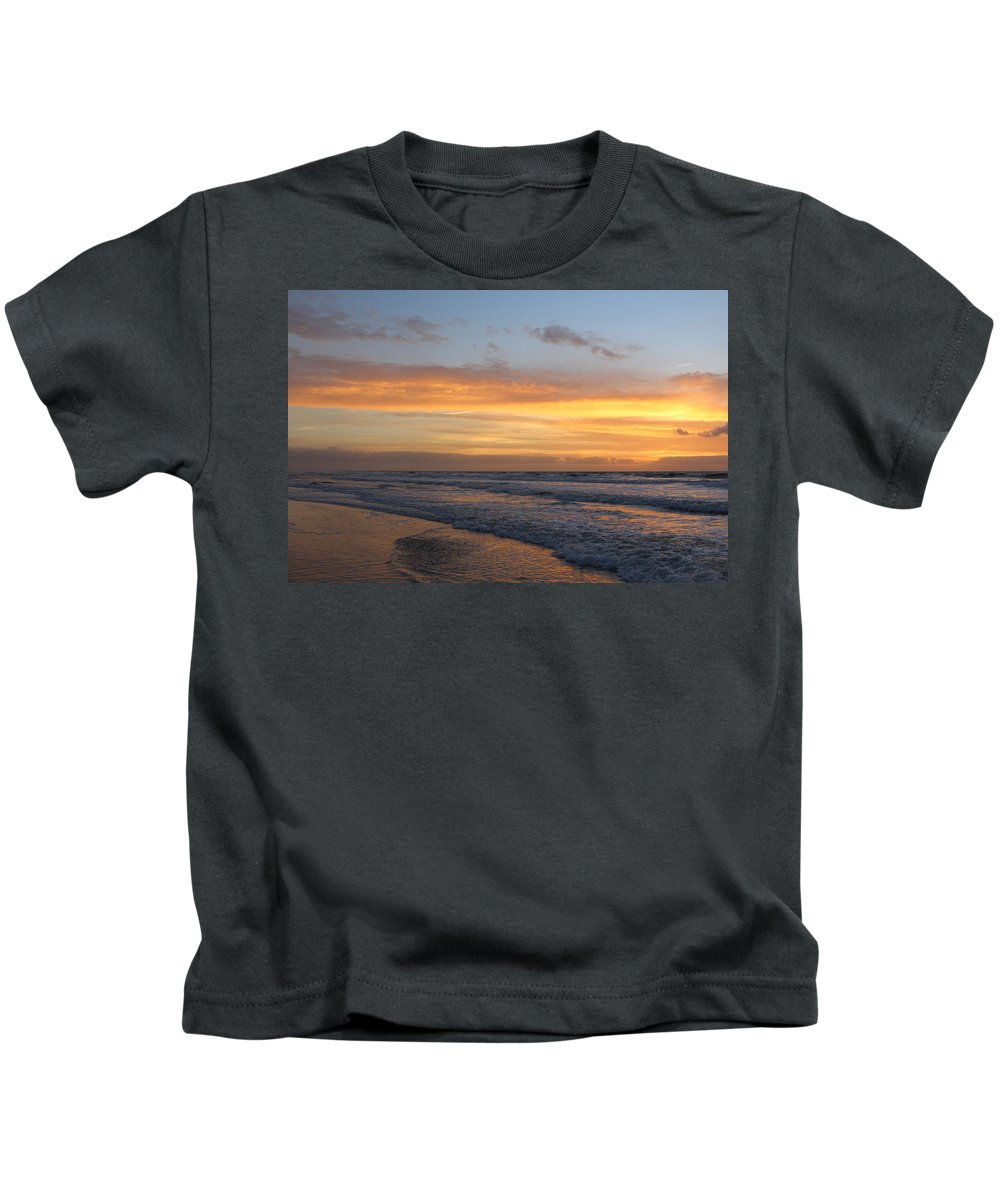 Kids T-Shirt featuring the photograph Topsail Island Sunup 2 by Rand Wall