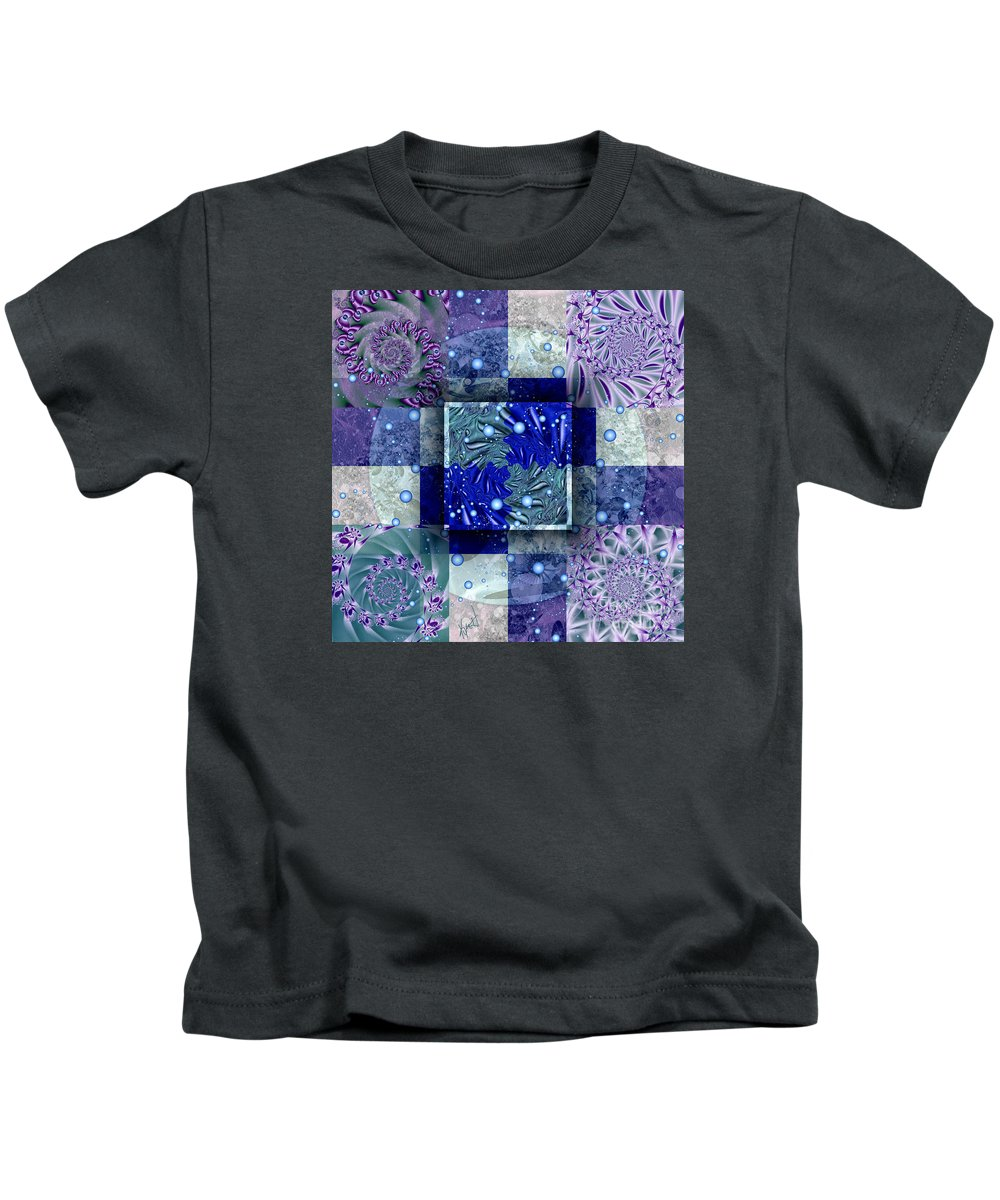 Tidepools Kids T-Shirt featuring the digital art Tidepools by Kimberly Hansen