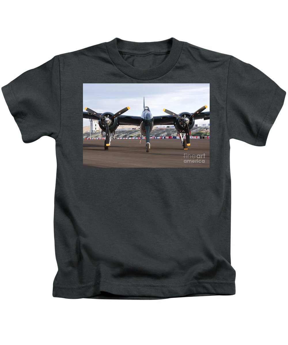 F7f Kids T-Shirt featuring the photograph Tigercat by Rick Pisio