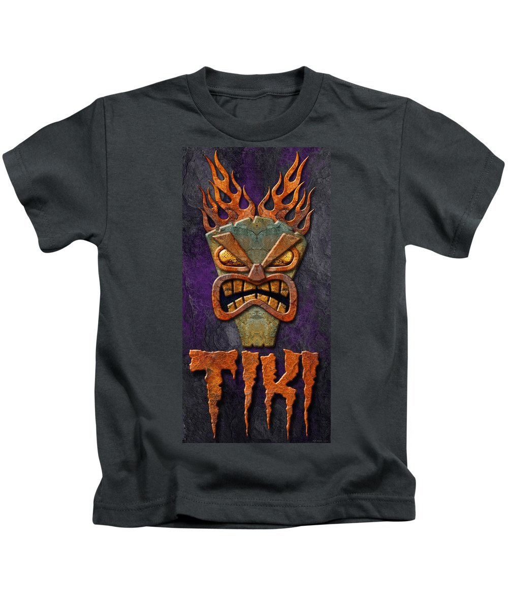 Tiki Kids T-Shirt featuring the photograph Tiki by WB Johnston