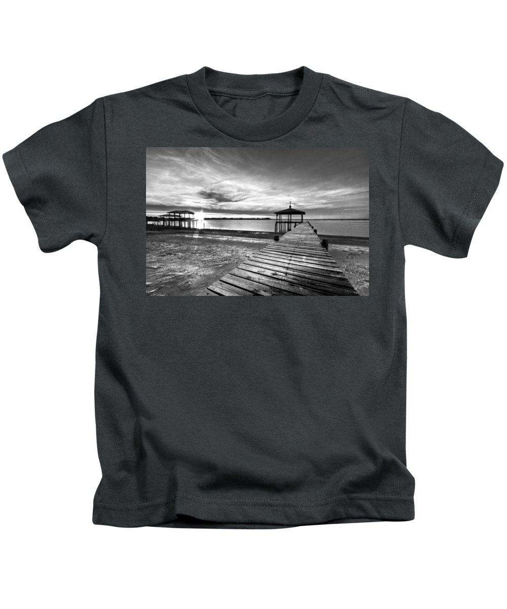 Clouds Kids T-Shirt featuring the photograph Time To Fish by Debra and Dave Vanderlaan