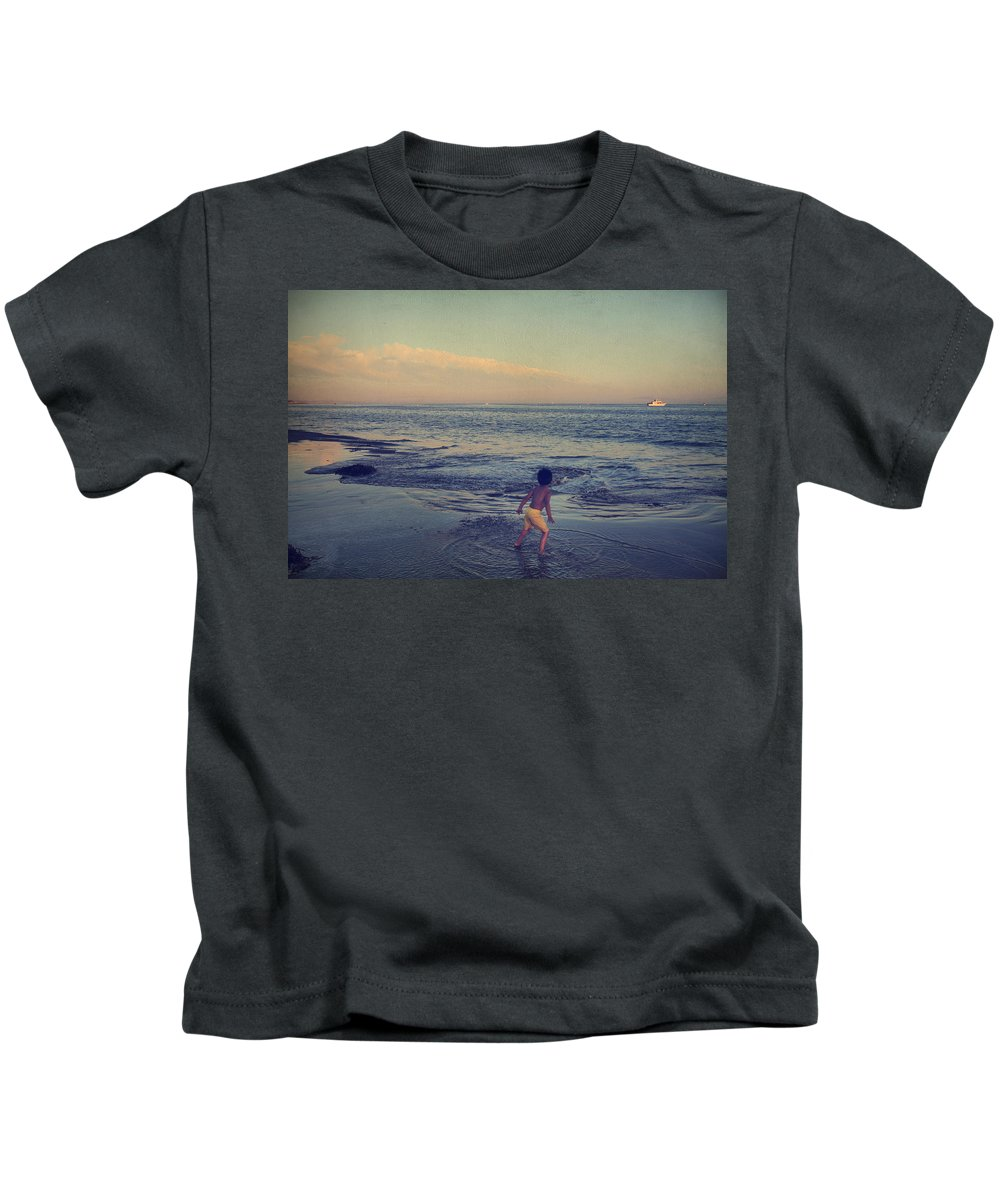 Santa Cruz Kids T-Shirt featuring the photograph To Be Young by Laurie Search