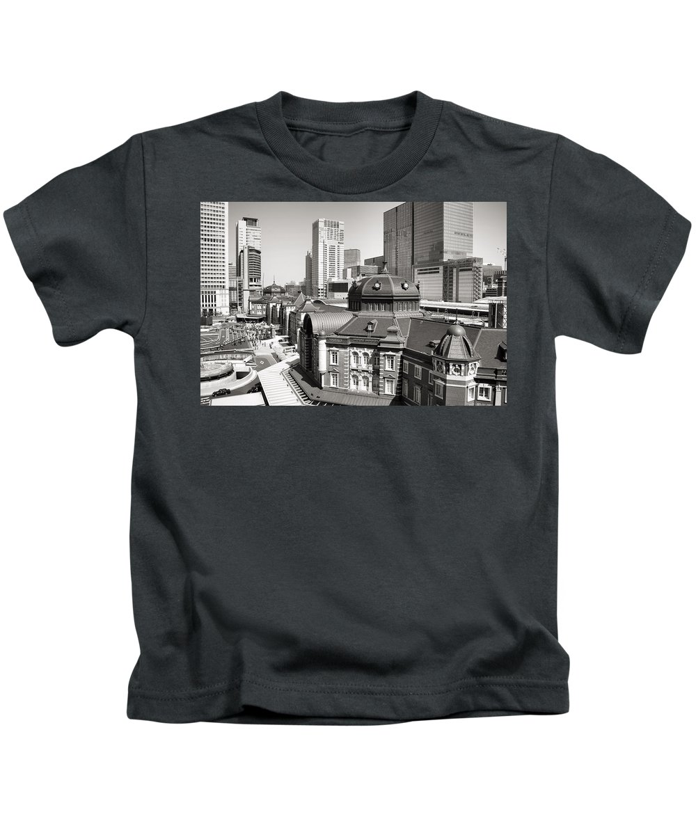 Tokyo Station Kids T-Shirt featuring the photograph Tokyo Station by For Ninety One Days