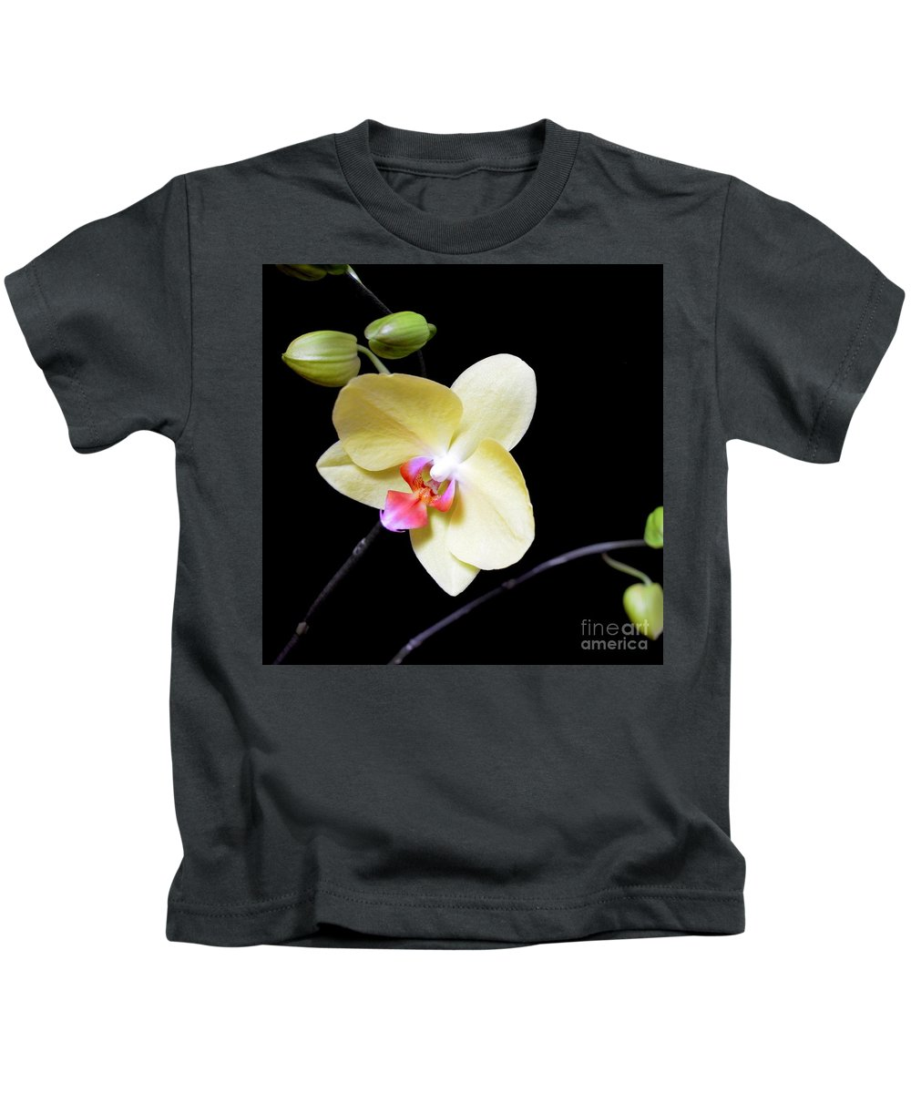 Orchid Kids T-Shirt featuring the photograph Tomorrow's Promises - No 2 by Mary Deal