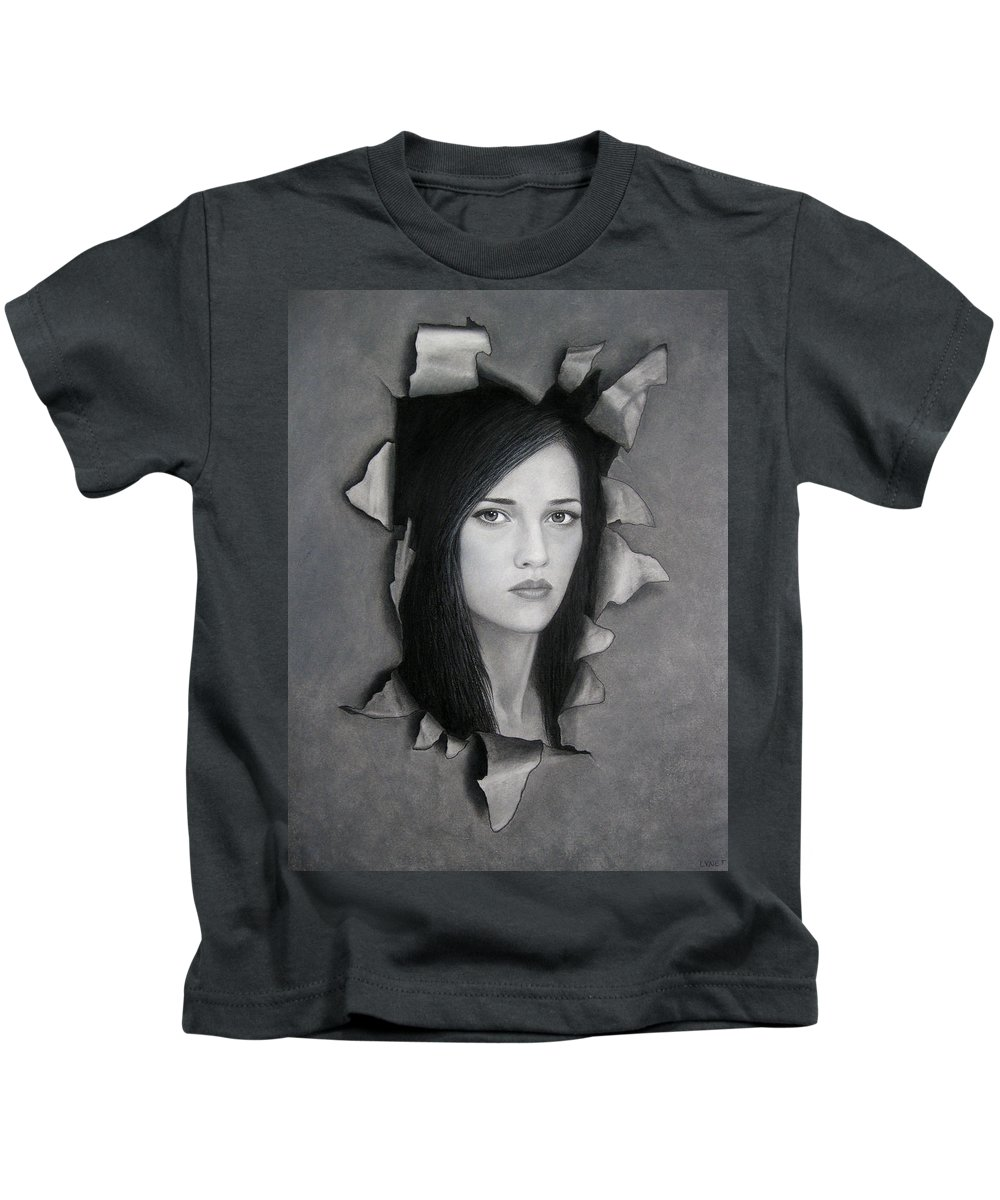 Torn Kids T-Shirt featuring the painting Torn by Lynet McDonald