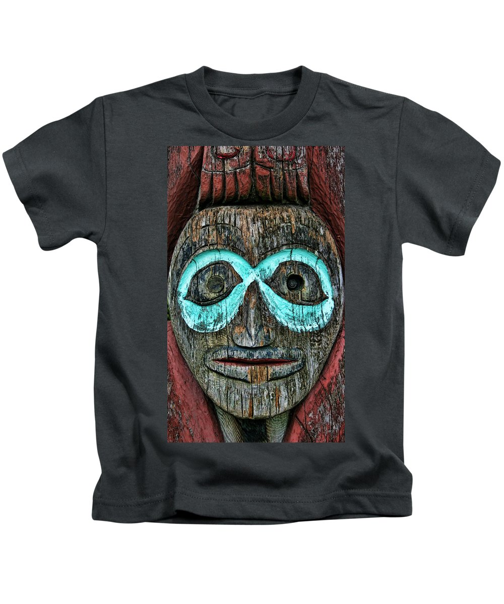Totem Pole Kids T-Shirt featuring the photograph Totem by Heather Applegate
