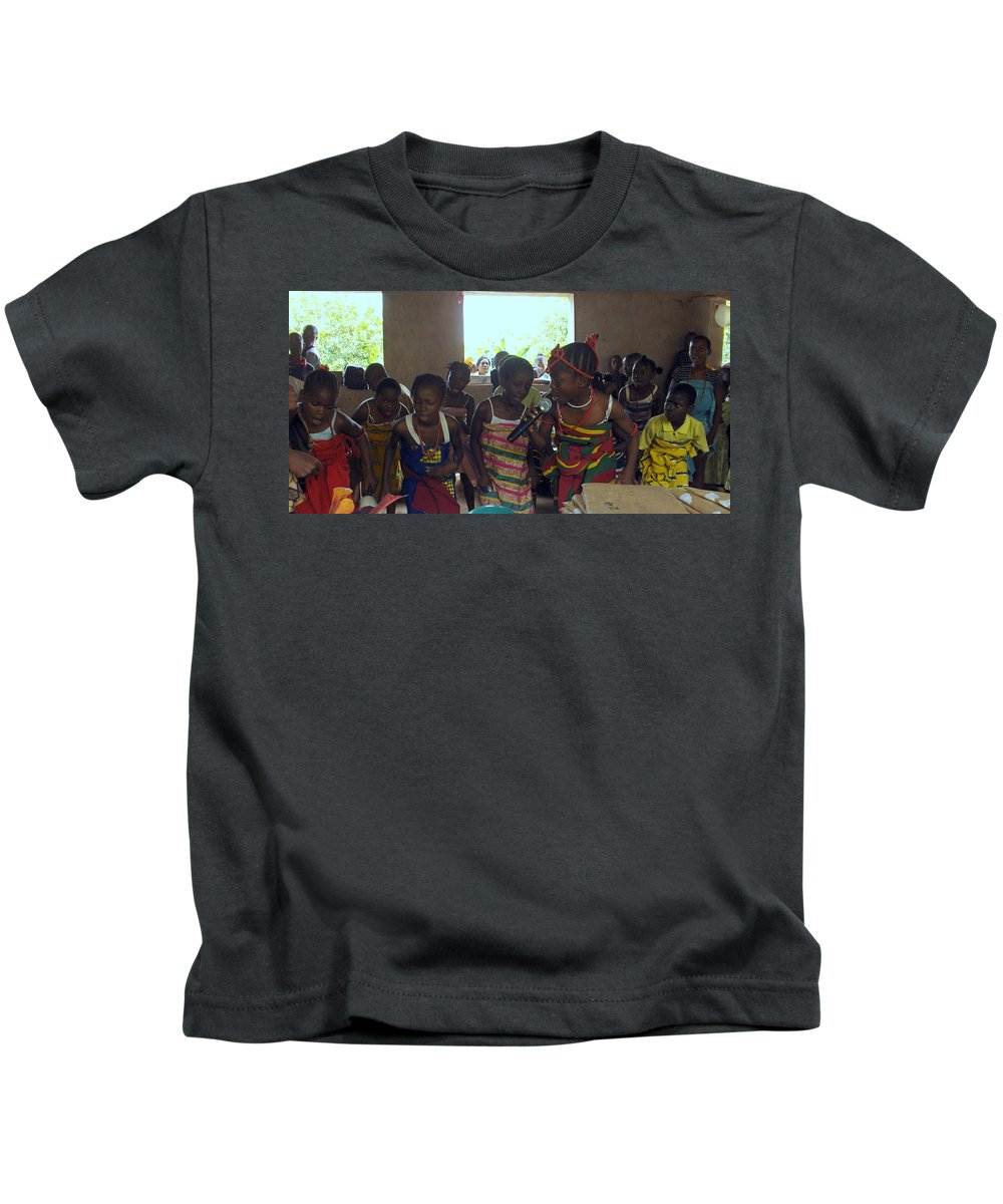 Nigeria Kids T-Shirt featuring the photograph Traditional Dance And Singing by Amy Hosp