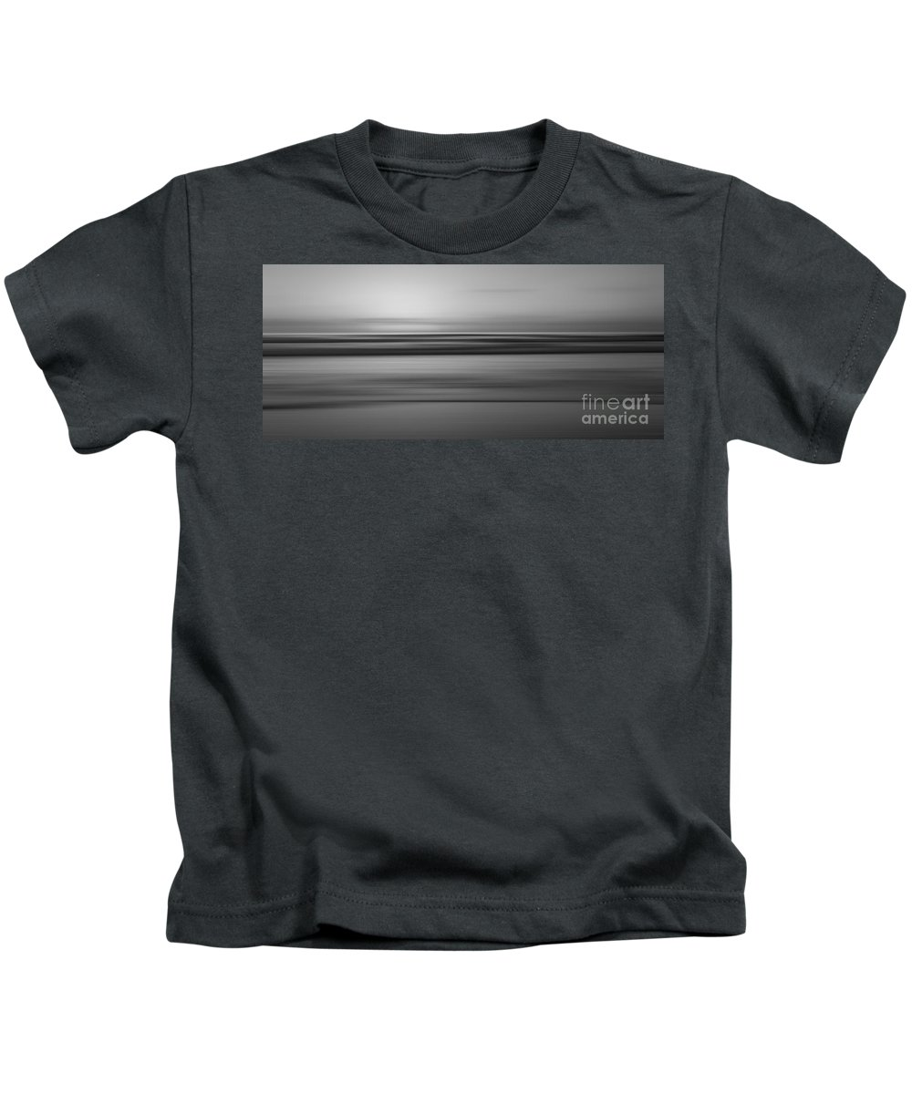 At Peace Kids T-Shirt featuring the photograph Tranquility 2 Bw by Michael Ver Sprill