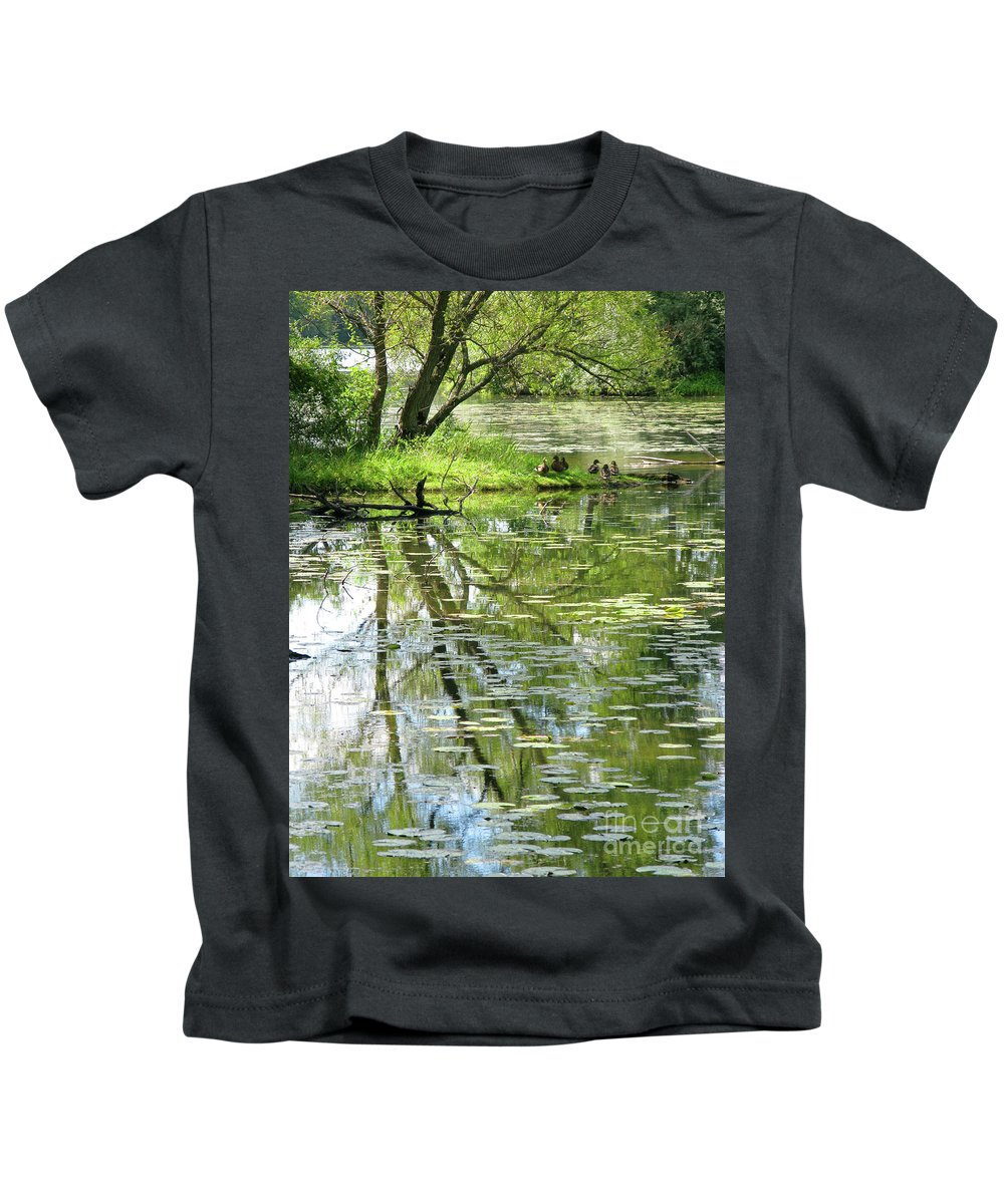 Reflection Kids T-Shirt featuring the photograph Tranquility by Ann Horn