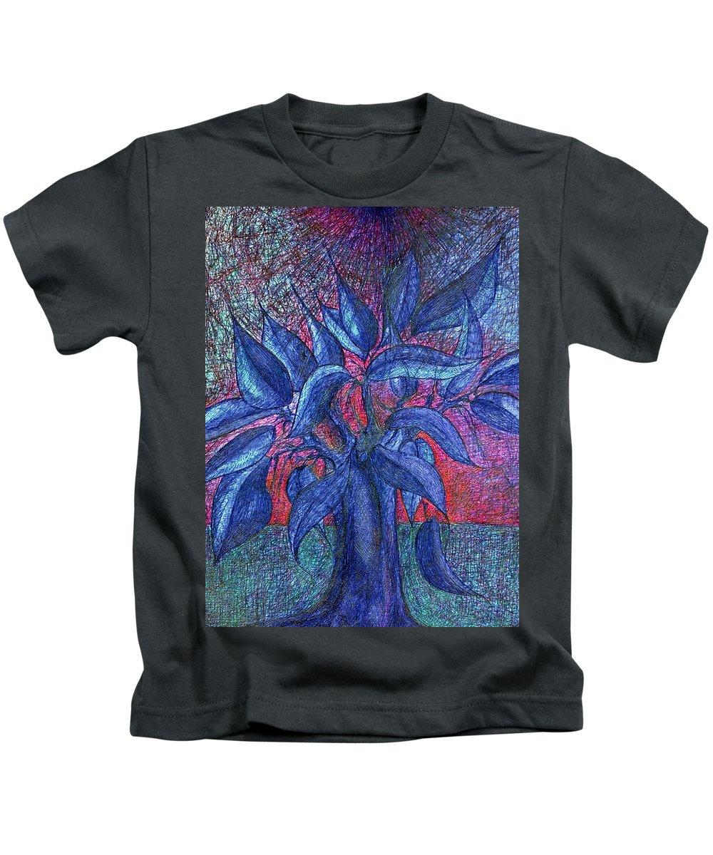 Colour Kids T-Shirt featuring the drawing Trees Flower by Wojtek Kowalski