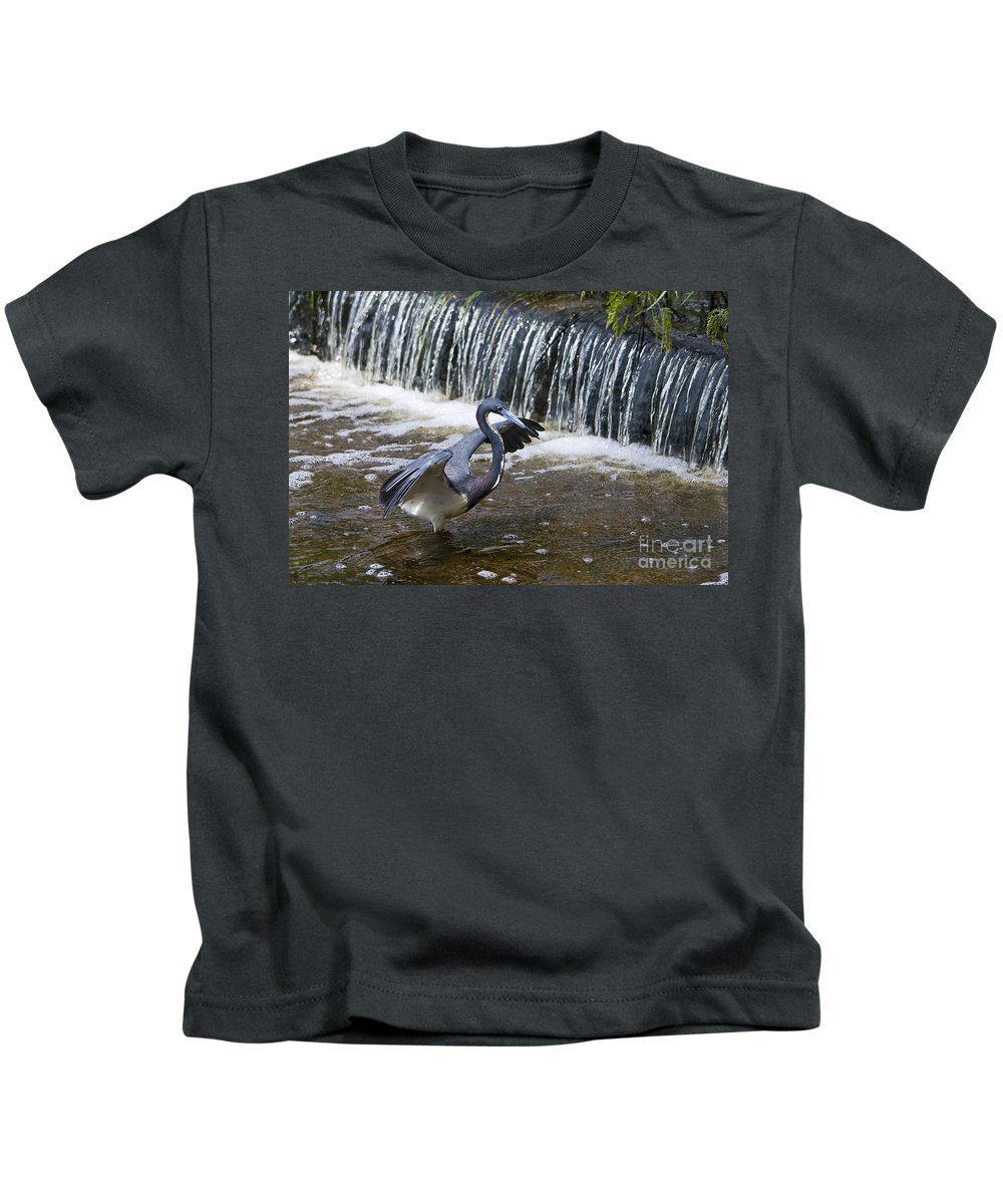 Tri-colored Heron Kids T-Shirt featuring the photograph Tri-colored Heron No.2 by John Greco