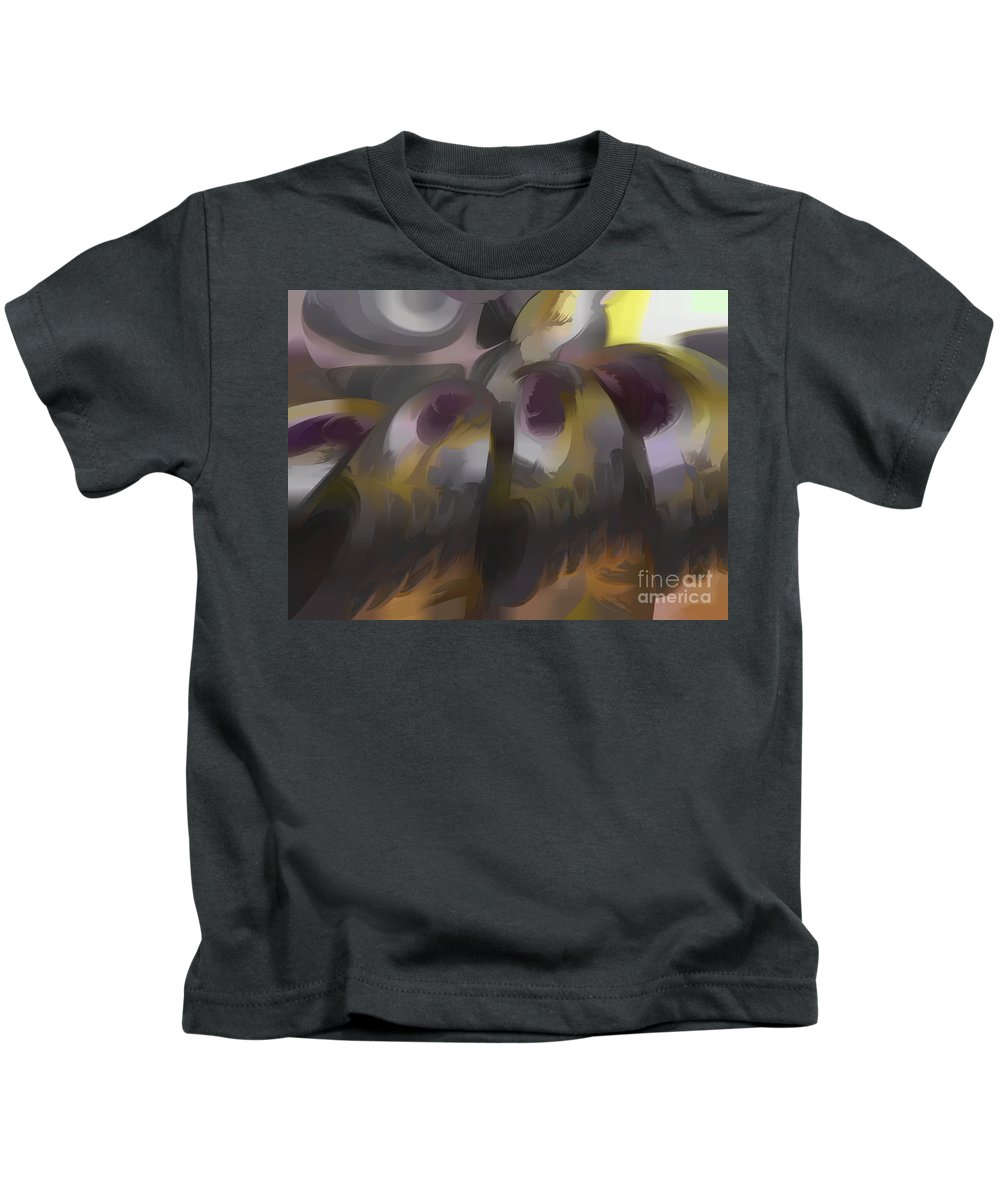 Abstract Kids T-Shirt featuring the digital art Tropical Wind Pastel Abstract by Alexander Butler