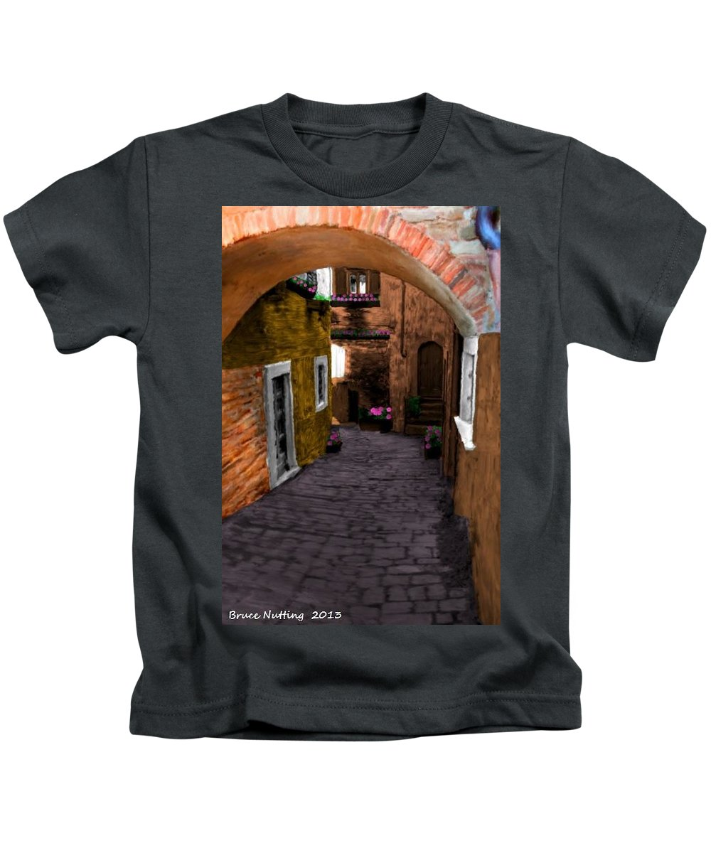Tuscany Kids T-Shirt featuring the painting Tuscany Italy by Bruce Nutting