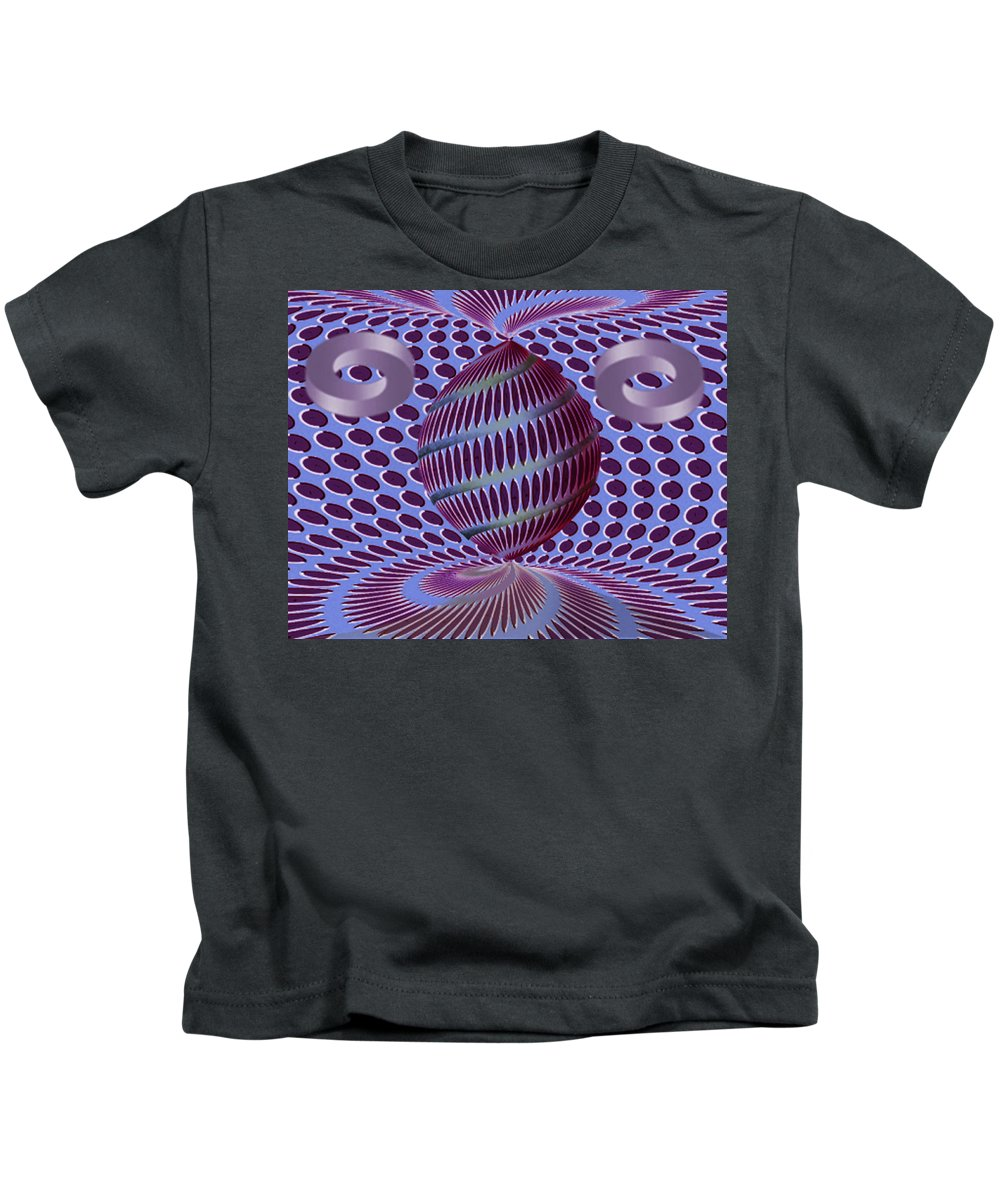 Autenrieb Kids T-Shirt featuring the digital art Twisted by Vincent Autenrieb