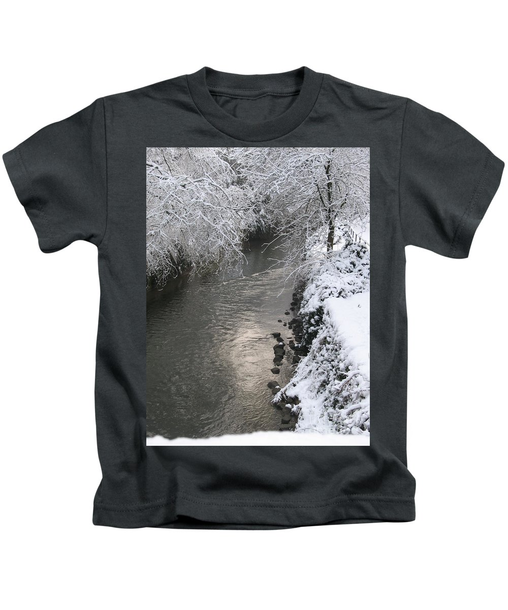 Snow Kids T-Shirt featuring the photograph Under A Blanket Of Snow by Christiane Schulze Art And Photography