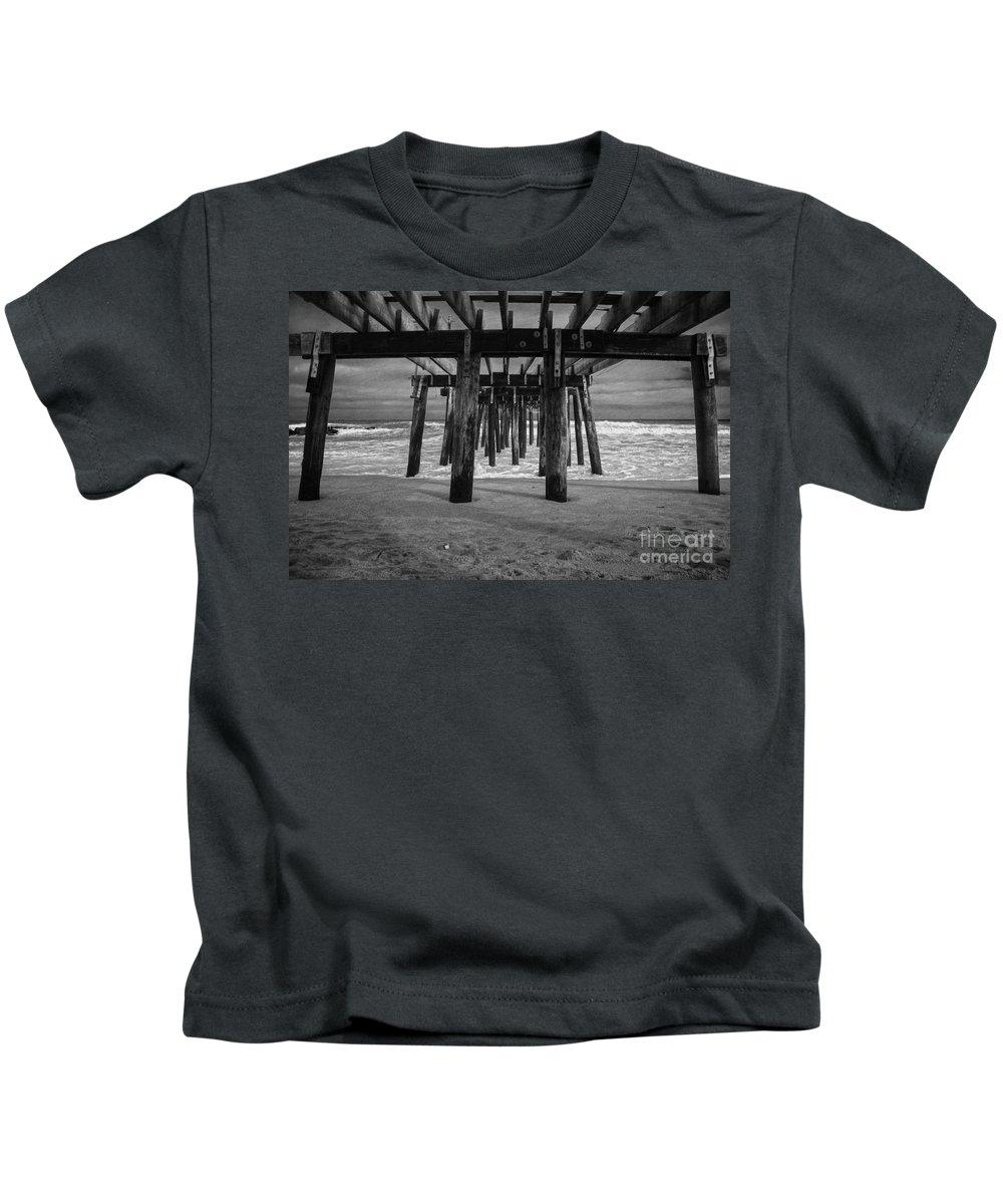 Ocean Grove Kids T-Shirt featuring the photograph Under The Boardwalk by Debra Fedchin