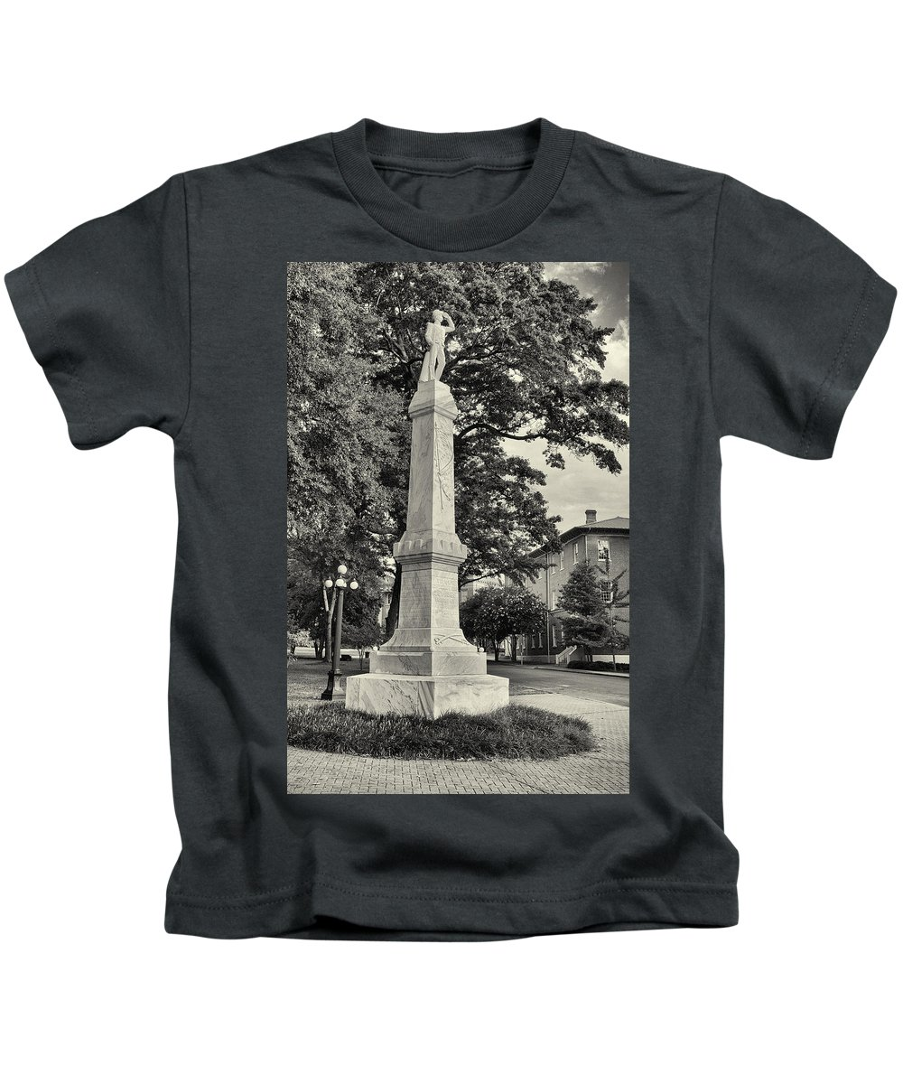 Mississippi Kids T-Shirt featuring the photograph University Greys Black And White by Joshua House