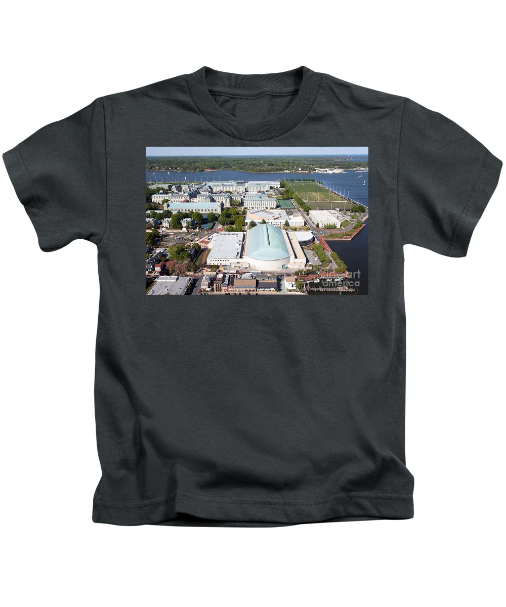 Academy Kids T-Shirt featuring the photograph Us Naval Academy by Bill Cobb